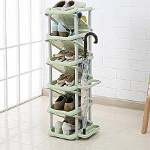 ZEQUAN Étagère à Chaussures en Plastique Simple