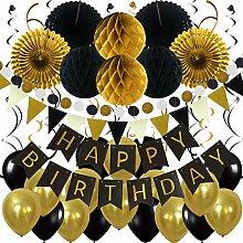 Zerodeco Décorations Anniversaire Happy Birthday