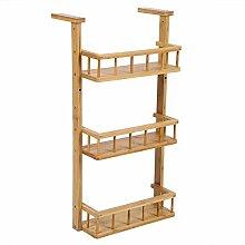 Zerone Étagère à épices en bois à 3 étages -
