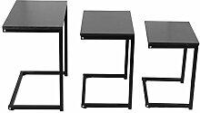 Zerone Table Basse Gigogne Minimaliste, 3Pcs Table