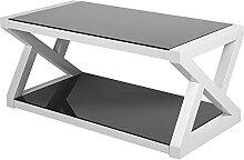 Zerone Table Basse Rectangulaire avec Étagère,