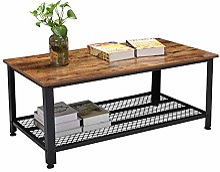 Zerone Table Basse Rétro Rectangulaire, Table
