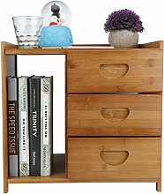 Zerone Table d'Appoint avec 3 Tiroirs, Table