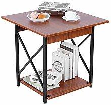 Zerone Table d'Appoint Compacte avec Étagère