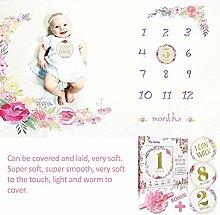 zezego Couverture mensuelle pour bébé,