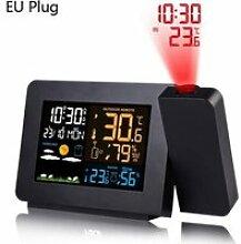 ZF30296-Horloge,LED réveil Projection horloge