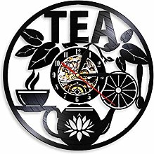 ZFANGY Afternoon Tea Time Disque Vinyle Horloge