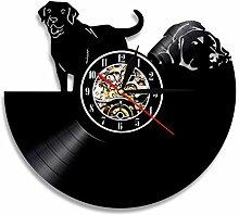 ZFANGY Animaux de Compagnie Disque Vinyle Horloge