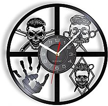 ZFANGY Barbershop Horloge Murale Art Rétro