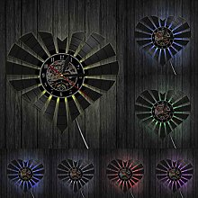 ZFANGY Clignotant Geometri Coeur Mur Art Horloge