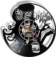 ZFANGY Horloge Murale de Salon de beauté maître