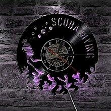 ZFANGY Horloge Murale en Vinyle LED Horloge Murale