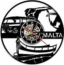 ZFANGY Malte City View Horloge Murale Creative