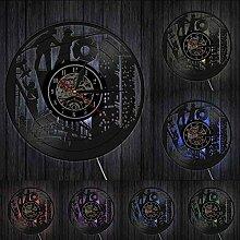 ZFANGY Pompiers Vinyl Record Clock Caserne de