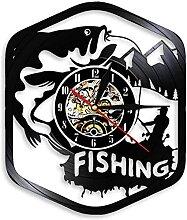 ZFANGY Vinyle Horloge Murale LED Horloge Murale