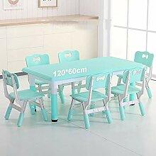 ZH Ensembles Table Longue et 6 Chaises pour