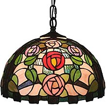 ZHANGDA 12 Pouces Tiffany Style Suspension Lampe