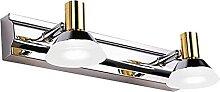 ZHANGDA Lampe d'armoire à Miroir LED en Acier