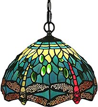 ZHANGDA Tiffany Style Pendentif Lampe Libellule