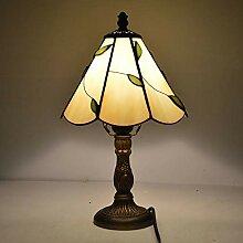 ZHANGDA Tiffany Style Petit Lampe de Table Feuille