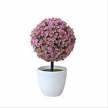 ZHANGMX Pot de Fleur en Plastique Floral