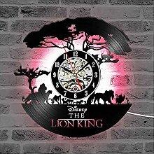 ZhangXF Dessin Animé Roi Lion Horloge Murale