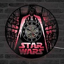 ZhangXF Horloge Murale Disque Vinyle Dark Vador,