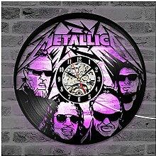 ZhangXF Metallica Horloge Murale à LED en Forme