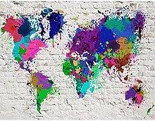 ZHEN WALLPAPER Papier Peint Carte du Monde