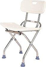 ZHENAO Chaise de Douche, Avec Tabouret Pliable