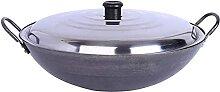 ZHENWULU Fonte Wok pan cargoter à la Main