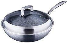 ZHENWULU German Quality30cm Wok Stir-Fry Pan avec