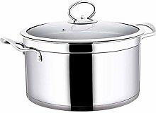 ZHGCHF Marmite/casserole en acier inoxydable poli,