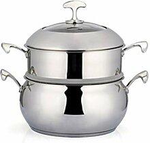 ZHGCHF Ménage double couche soupe en acier