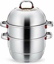 ZHGCHF Soupe en acier inoxydable Pot à vapeur
