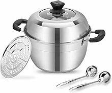 ZHGUOCFYJ Pot à soupe familial parfait en acier