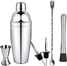 ZHGYD Shaker Cocktail en acier inoxydable Set de 6