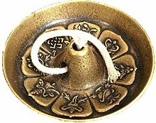 ZHIBO Lampe à Huile en Cuivre Pur Bouddha