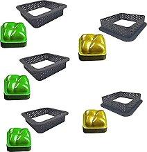 ZHiveA (5 pc Set) Oval Tart Ring Pastry Mold,Cake