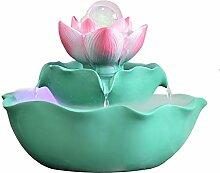 ZHJYDD BJDSZ Lotus Fontaine d'eau Ornements PC