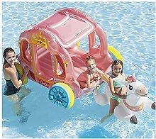ZHMIAO Lit Flottant pour Enfants Princesse Chariot