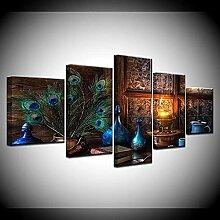 ZHONGZHONG 5 Peintures sur Toile HD Moderne Toile