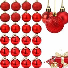ZHOUZHOU 24pcs Boules de Noël,Décorations