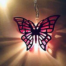 ZHQIC 2.5 M 10 pièces LED Papillon Guirlande