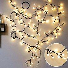ZHQIC 2.5 M 72LED Rotin Branches Chaîne Lumière
