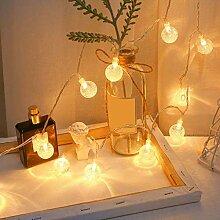 ZHQIC 20 LEDs étanche Guirlande de fées LED