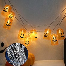ZHQIC 3 M 20 LED Halloween Citrouille LED