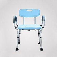 ZhuFengshop Chaise de bain bleue réglable pour