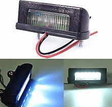 Zhuotop Feux arrières 12 V par LED de plaque