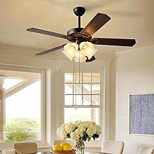 ZHZHUANG Chandeliers Ventilateur de Plafond